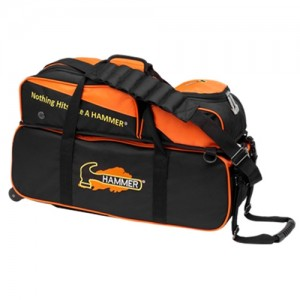 HAMMER TRIPLE TOTE BLACK ORANGE W REMOVABLE POUCH